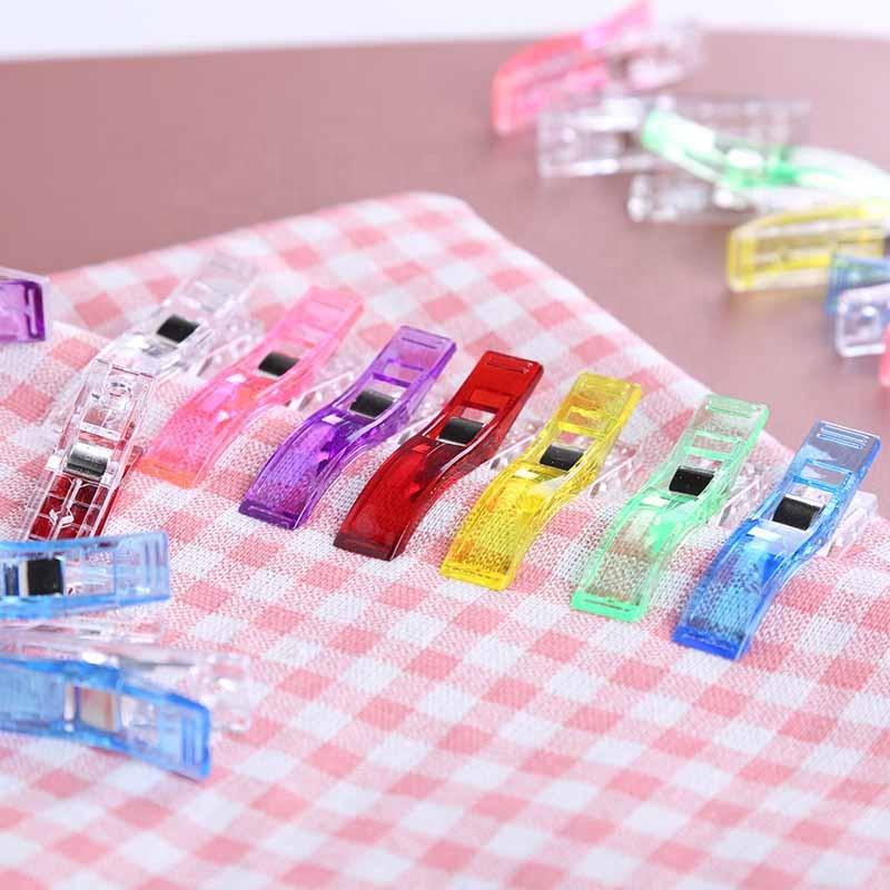 Длинные Пластиковые клипсы большого размера, разноцветные клипсы для пэчворка, швейные клипсы