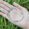 CB86797 Blue Agate+clear quartz  +letter