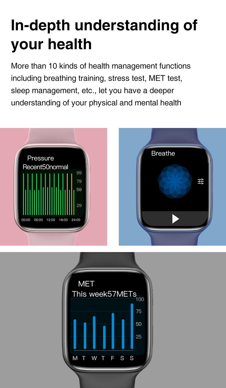 Reloj inteligente HW 22 DE 1,75 pulgadas, dispositivo con Bluetooth, llamada, 6 teléfonos, series 6, HW22, novedad de 2021
