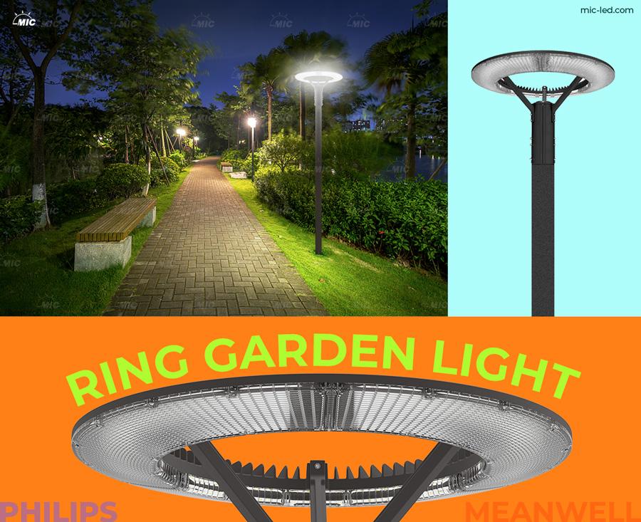 Die-cast Aluminum Garden Lamp post decorative Park Led Pole Top Light