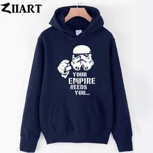 Gir Женская толстовка с капюшоном Звездные войны Дарт Вейдер ваша Империя нуждается в вас пара одежда осень зима флис ZIIART()