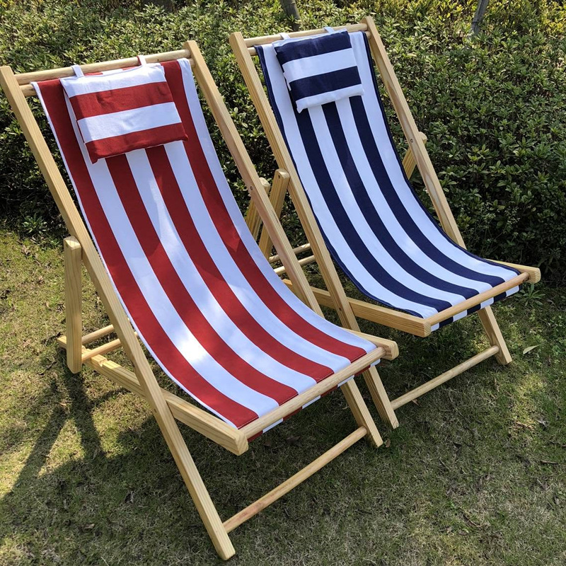 2020 Customization Hottest Blue Tropical Hotel Swimming Pool Wood Beach Chair Lounge chair