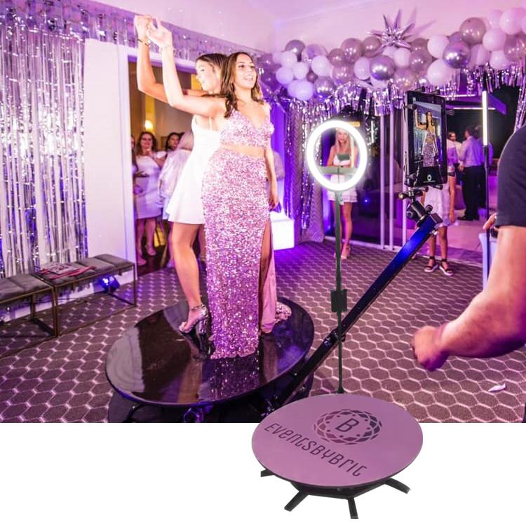 Портативный вращающийся Ipad 360 градусов фотобудка Автоматическая фотобудка