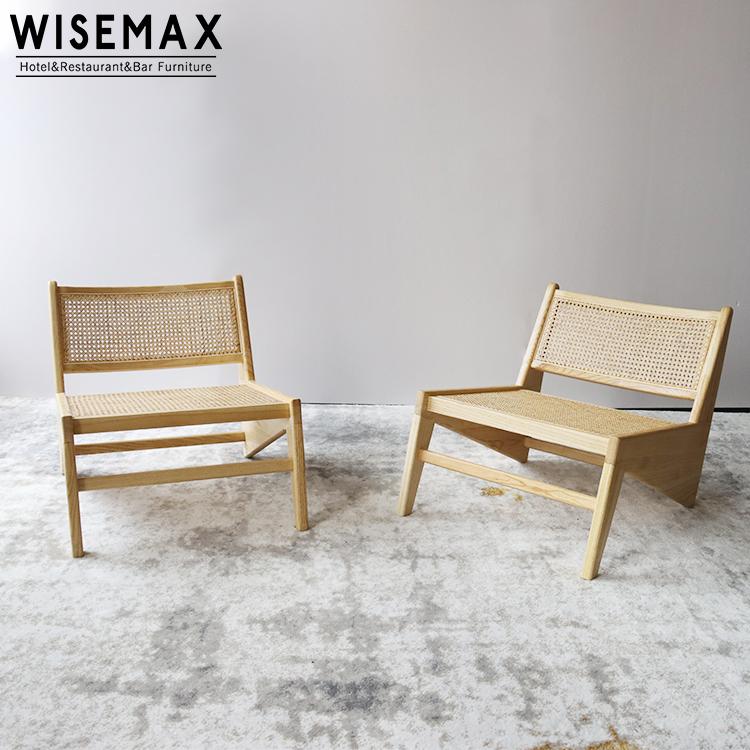 Мебель для дома, современный балкон, ротанговый стул из массива дерева, кресло с откидной спинкой для гостиной