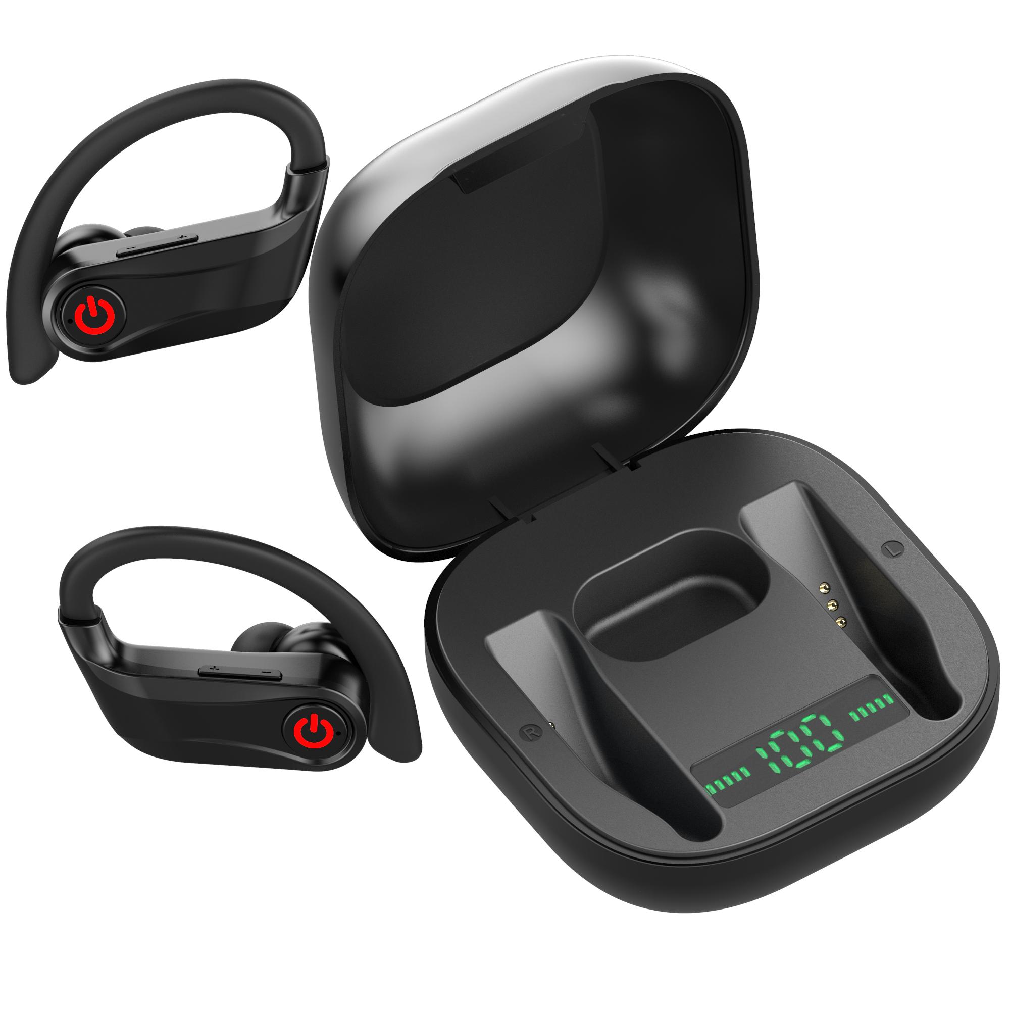 5.0 Bt Vision Wireless Earhook Tws Headphone Sports Blue Tooth Earbuds - idealBuds Earphone | idealBuds.net