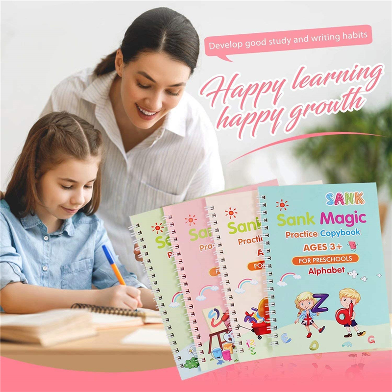 Wholesale Educational Learning Copybook Set Calligraphy Practice Handwriting Books Magic Reusable Workbook for Kids