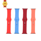 Apple Official Solid Color Silicone Buckle Wrist Strap 38mm 42mm For Apple Watch 1 2 3 4 5 6 40mm 44mm Watch Band