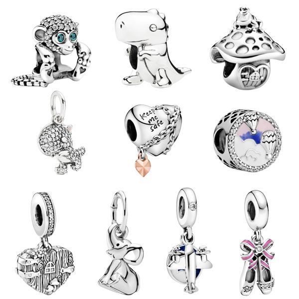 Breloques En Argent Sterling 925 Pour Pandora,Bijoux,Bracelet,Bricolage De  Haute Qualité,Faible Pureté - Buy Breloques Pour La Fabrication De ...