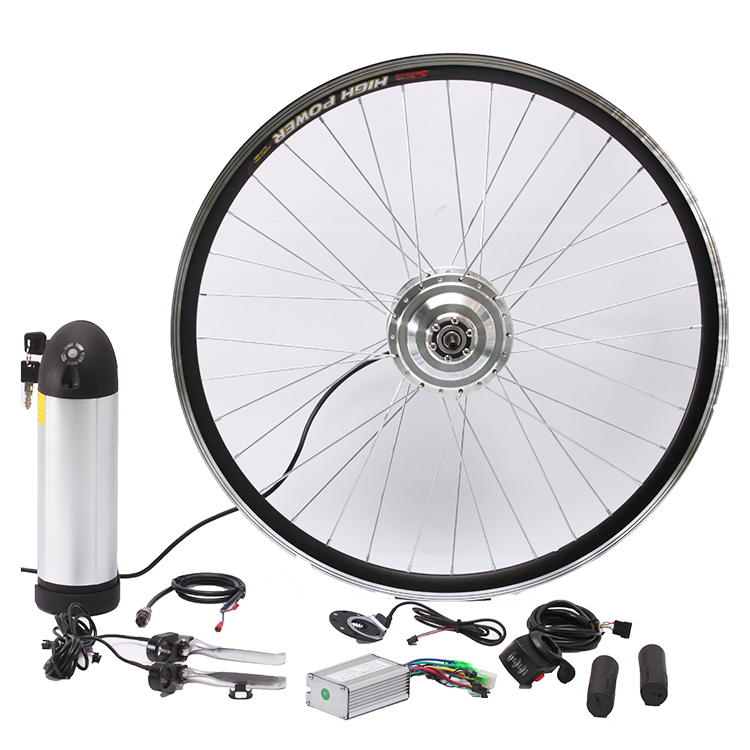 New 20 24 26 27.5 28 29 inch 700C E bike Conversion Kit 36V 250w hub motor Front Rear Motor Wheel Kit b0sch ebike battery