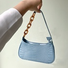wholesale ladies handbags baguette bag acrylic chain shoulder bags for girls womens