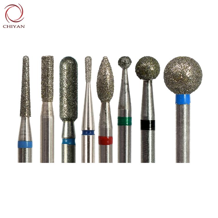 Профессиональные безопасные мелкие грубые роторные сверла для кутикулы, гладкие шарики, алмазные ногти, сверла, держатель 5 в 1, набор сверл для ногтей