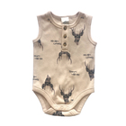 Baby organic cotton romper henley placket snap crotch baby jumpsuit organic 004 new born infant garment