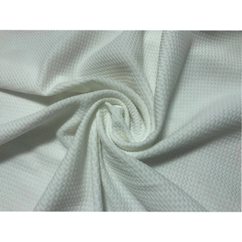 Wholesale Blank White Polyester Spandex Jersey Knit Solid Bullet Fabric For Dress