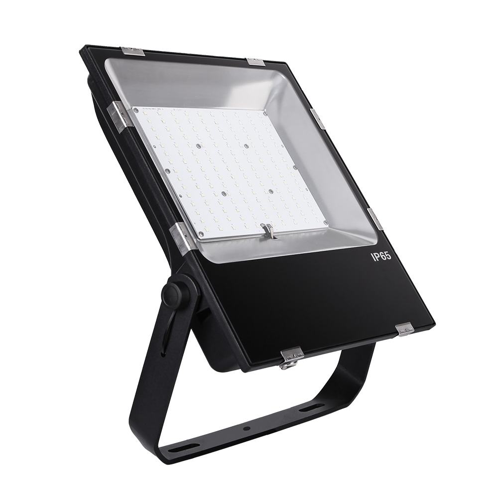 India free shipping Waterproof Motion Sensor High Bay Garden 150w Floodlight Die Cast Aluminum Led Flood Light Housing