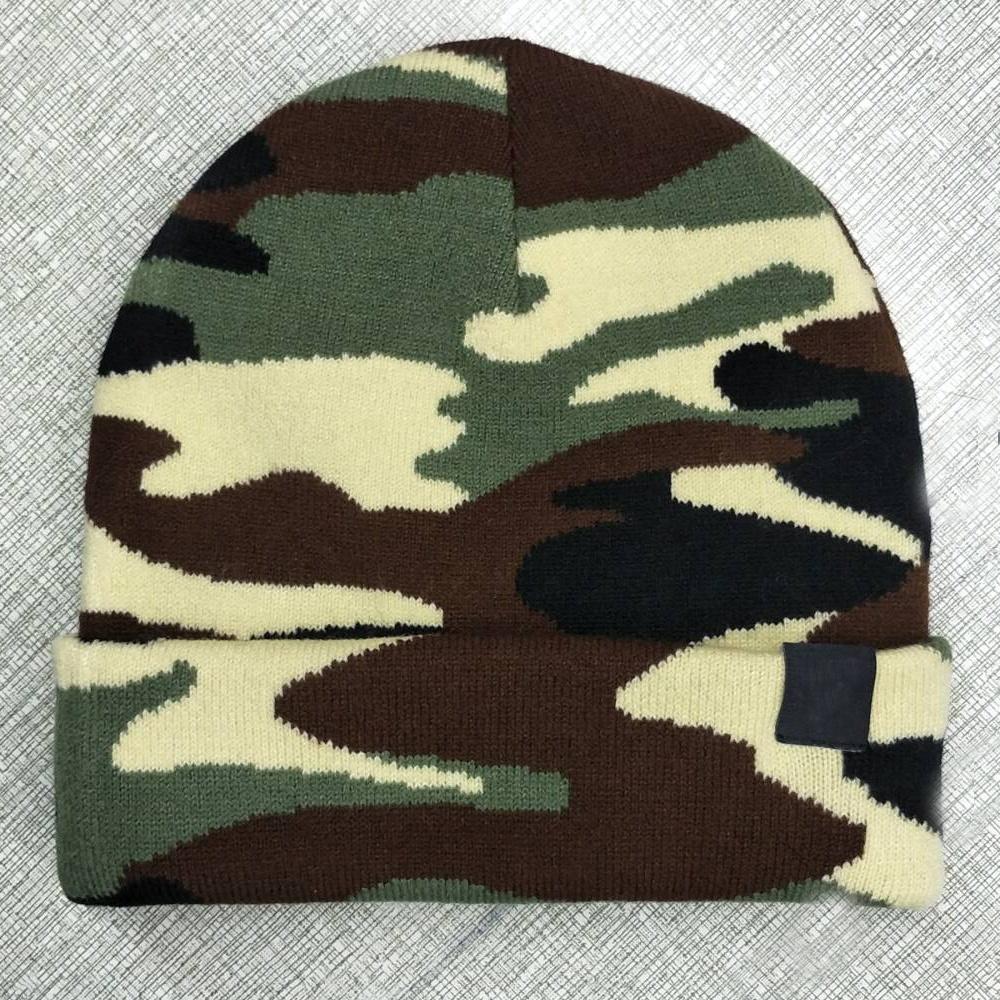 Армейская деревянная Вязаная Шапка-бини с черепом, камуфляжная Лыжная зимняя Шапка-бини