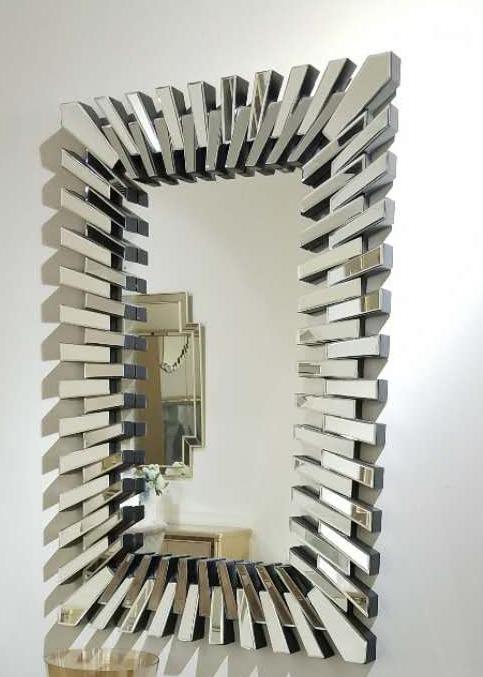 Лидер продаж, большие прямоугольные 3D современные декоративные настенные зеркала ручной работы, мебель для гостиницы, гостиной