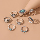 Ring Turquoise Euramerican New Trend Ring Turquoise Restore Ancient Ways Water Drop Sells Hot Style Ring Wholesale