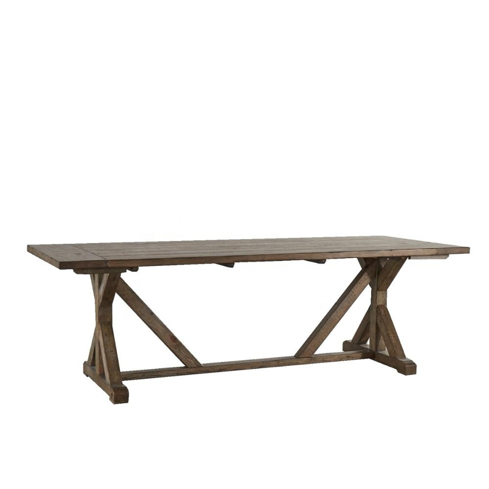 Guangdong Paloma Rustic Reclaimed Wood Rectangular Trestle Farm Table Buy Dining Table Designs Table And Chairs For Dining Room Dining Table Set Marble Product On Alibaba Com