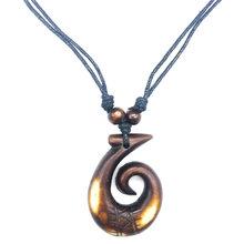 Гавайский ручной резной крючок для маори, амулет-подвеска, подарок, Вера, ожерелье, парусное ожерелье, защита от злых морских шармов(Китай)