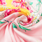 Women Silk Scarf Women Wholesale HotSale New Design High Quality Fashion Luxury Women Printing Flower Square 100%Pure Silk Scarf 14mm 110*110cm Custom