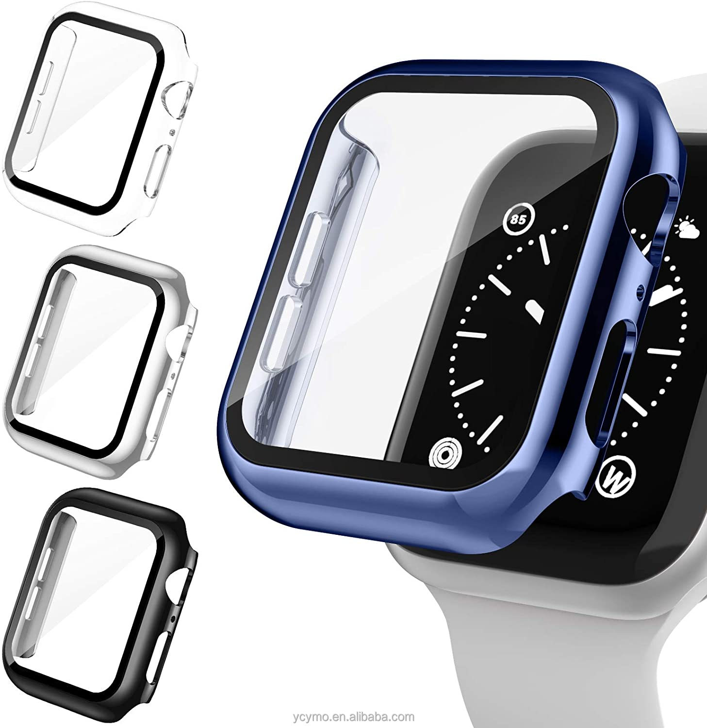 YCYMO Case With Screen Protector For Apple Watch Case Covers For I-watch Case Series 6/5/4/3 SE