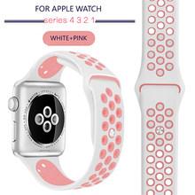 Силиконовый спортивный ремешок для Apple Watch Series 5 4 3 2 42 мм 44 мм 38 мм 40 мм резиновый ремешок для iWatch 4 3 2 Замена(Китай)