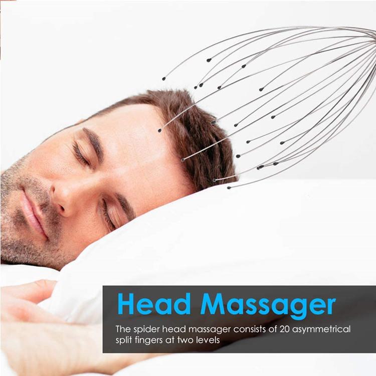 12/20 Fingers Scalp Massager Tool  Rejuvenating Head Hair Scratcher Massage No Painful Scratches Tangling massager