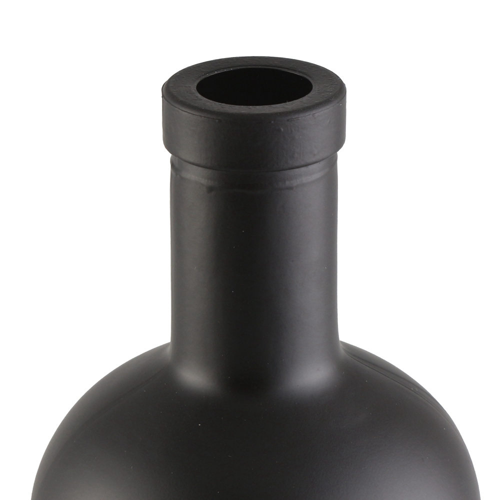 Custom 200ml 375ml 500ml 700ml 750ml 1000ml Black oslo glass bottle vodka spirit wine bottle for liquor
