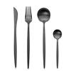 Black Set(4pcs:knife,fork,spoon,teaspoon)