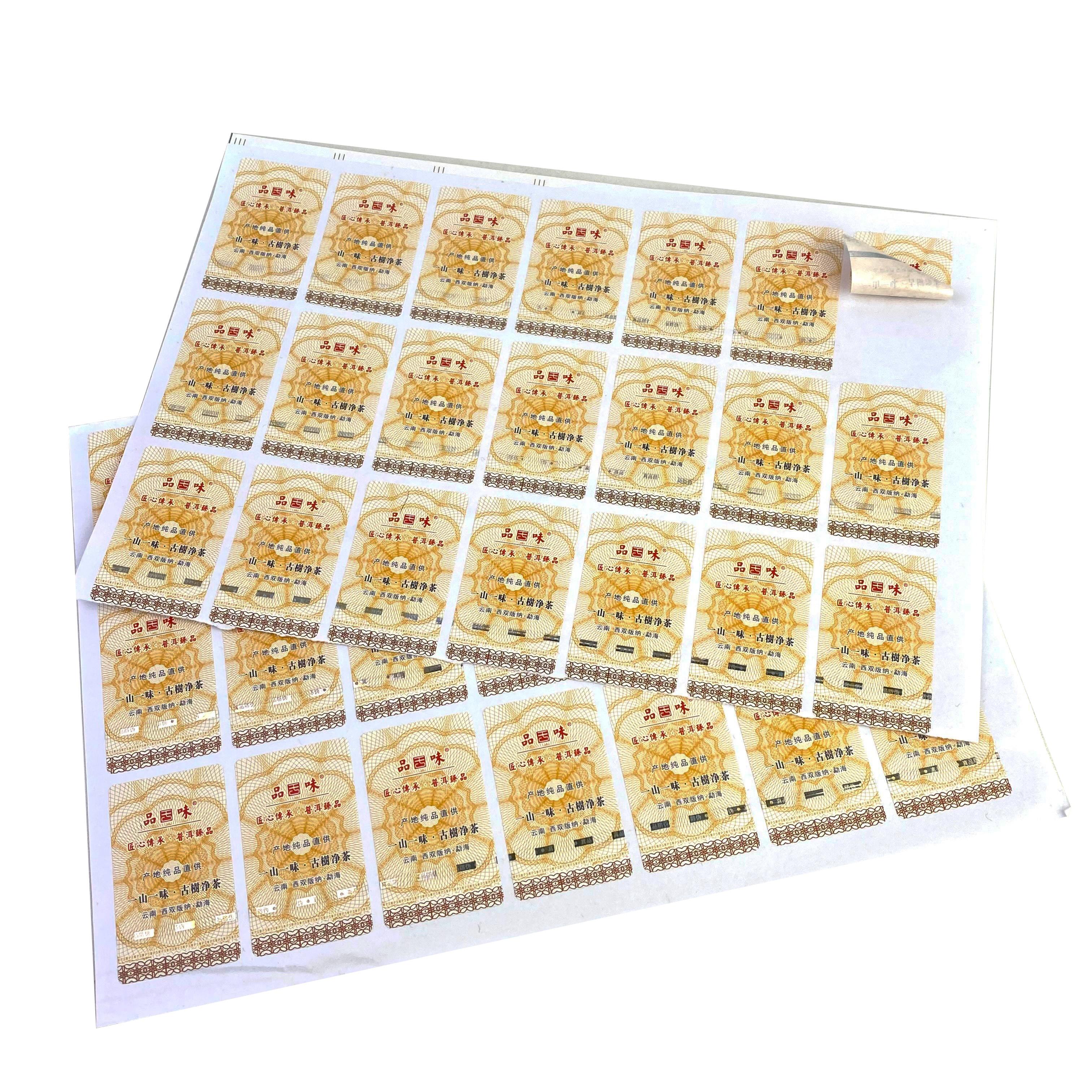 Anti-fake Bar Genuine Authertic Original Security Custom Sticker Anti Counterfeiting Product Private Label