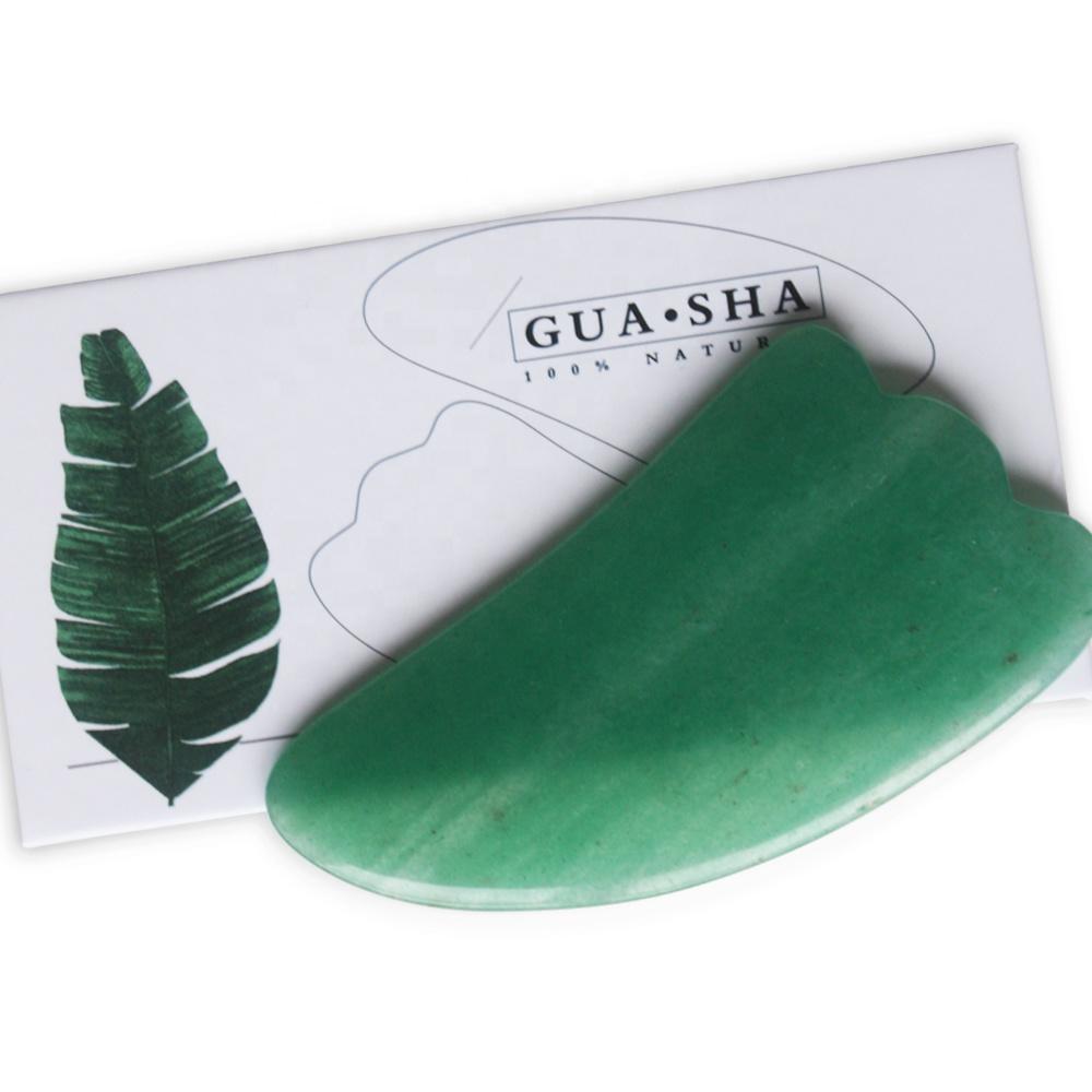 Лидер продаж Amazon, зеленый кварц в форме крыла, доска гуаша, инструмент для похудения лица