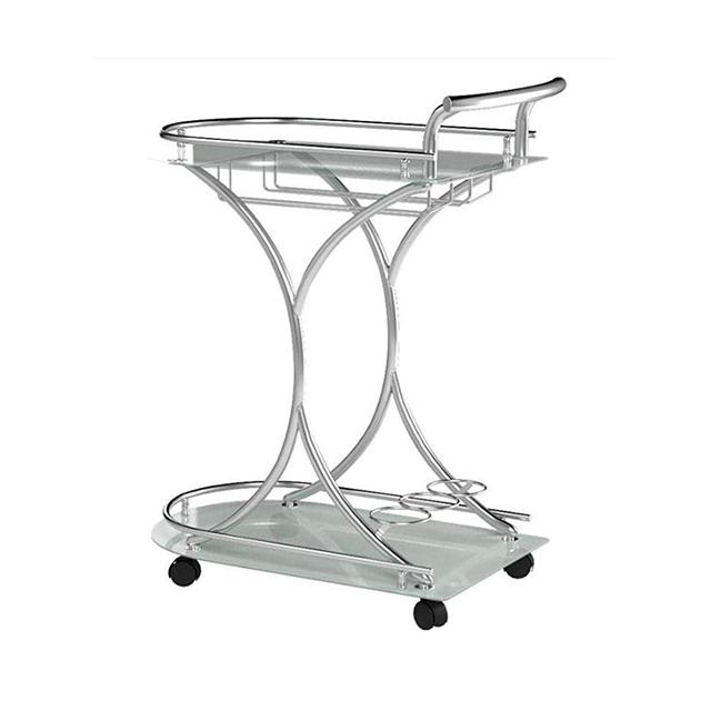 Modern hotel home furniture black glass top kitchen food cart serving trolley
