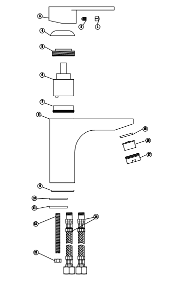 Классический смеситель для ванной комнаты, кран для горячей и холодной воды с одной ручкой