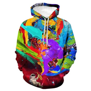 Fleece pullover oversized multi color men's hoodie sweatshirts custom 3d print wholesale hoodies men