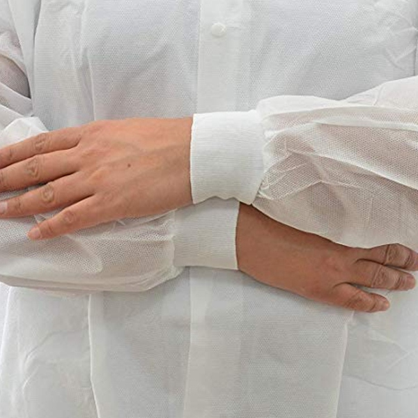 Individually wrapped SMS non woven lab coat disposable