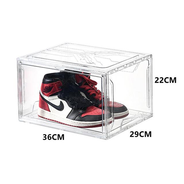 Home Decor Racks Modern Foldable Jordan Shoe Storage Box Stackable ...