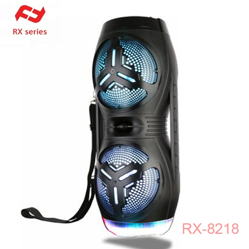 Double 8 inch outdoor portable blue tooth speaker RX-8218