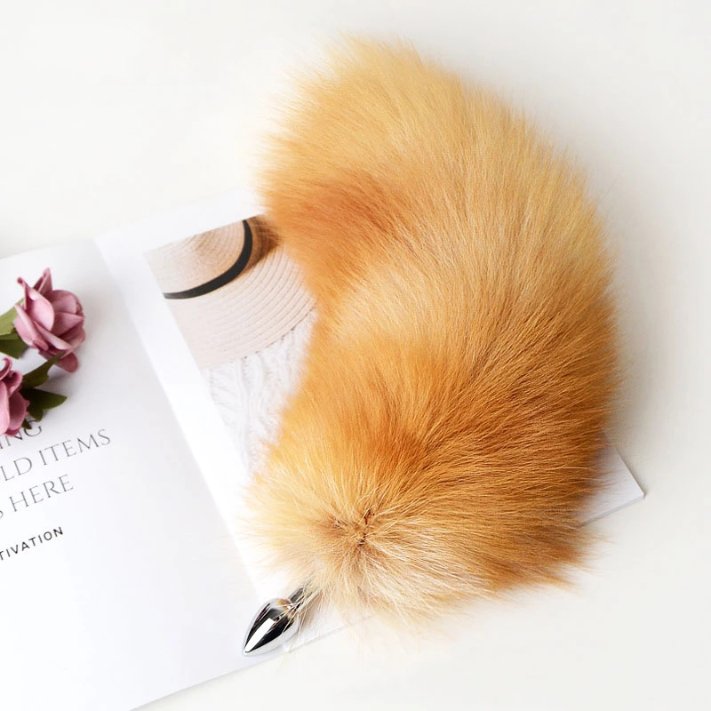 Detachable Anal Plug Real Fox tail Smooth Touch Metal Butt Plug Tail Erotic BDSM Sex Toys for Woman Couples Adult Games Sex Shop - 4U-Love Limited | 4U-SexToy.com