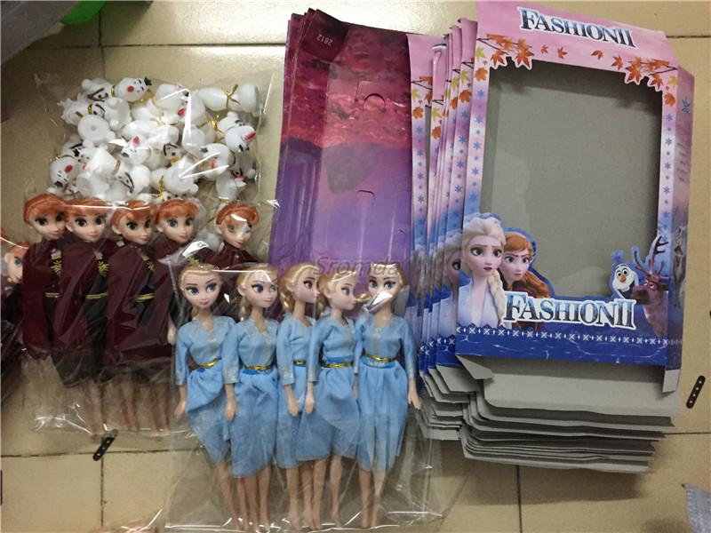 Новое поступление, с изображением Эльзы из мультфильма «Холодное сердце» Анной и Олафом и 3 шт./компл. «Холодное сердце» 2 ПВХ Куклы для девочек в стиле «Холодное сердце подарок игрушки 11,5 inch в стиле Эльзы и Анны модель игрушка