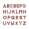 8mm Red color Full rhinestone letters