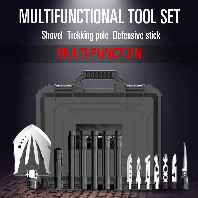 New Multifunctional Shovel Tool Set Trekking Poles Kit