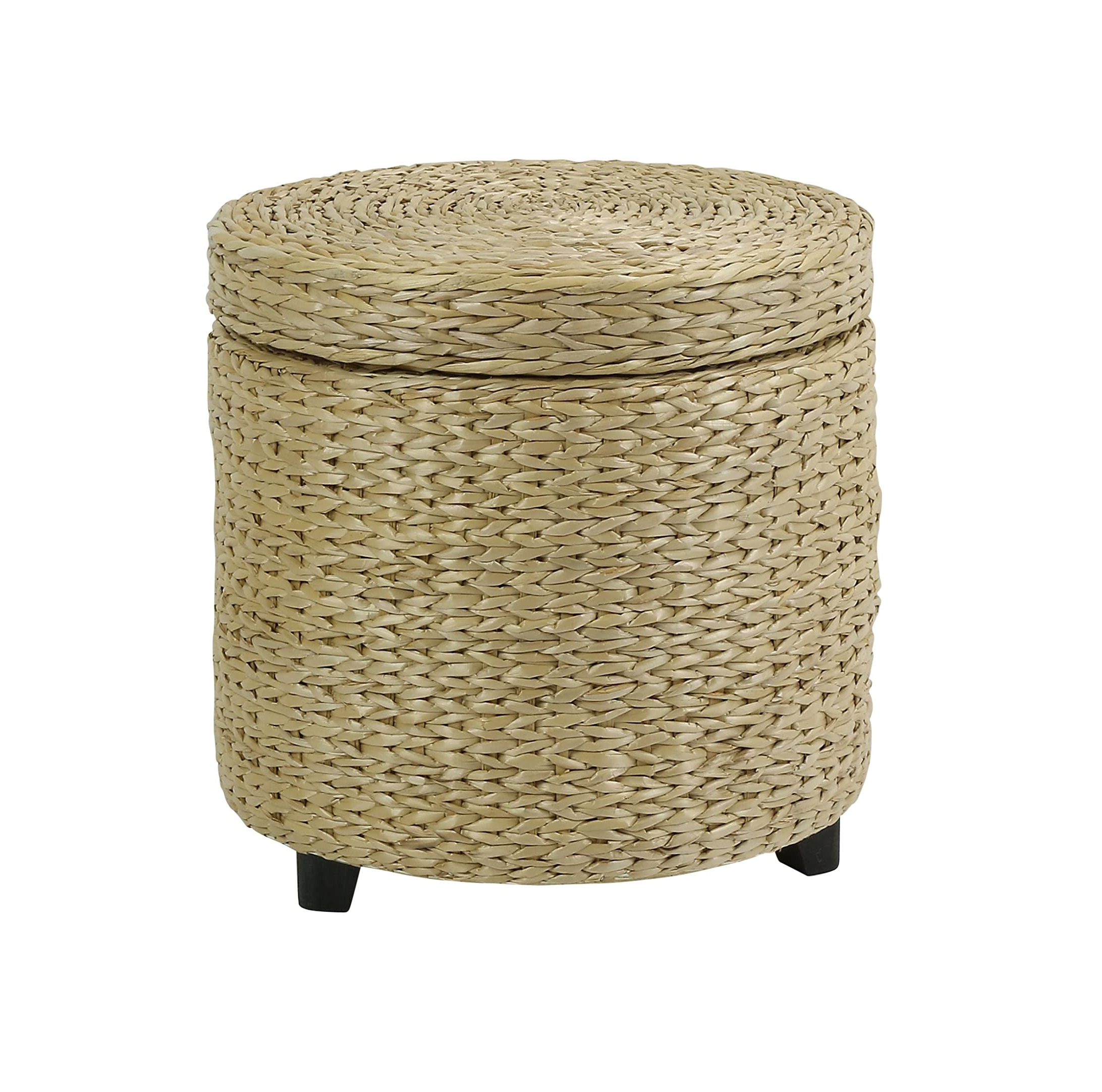 Braided Hand Woven Natural water hyacinth Round Cushion Ottoman round woven Floor Footres craft Christmas decorations poufs