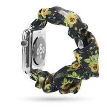 Женский эластичный ремешок для часов Apple Watch 38 мм/40 мм 42 мм/44 мм, повседневный браслет для женщин и девушек iwatch series(Китай)