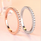 Ring Band Wedding Rings Fashion Shiny 5A Cz Ring Band Women Jewelry 925 Sterling Silver Wedding Rings