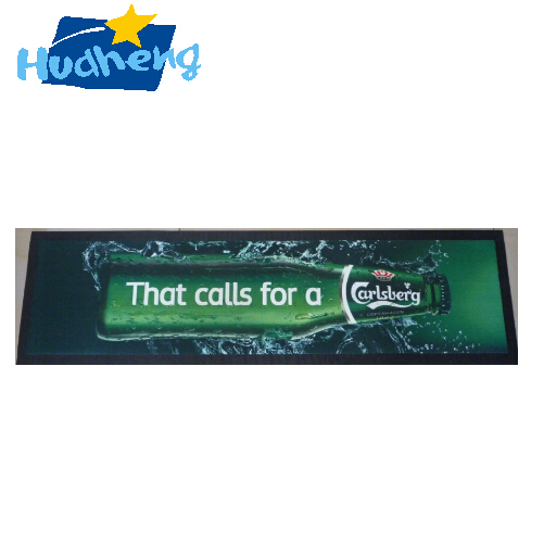 Wholesale Promotional Rubber Bar Mat Full color printing customized size