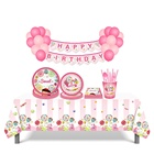 MM037 Candy theme Tableware set Happy birthday party supplies lollipop table supplies set kids birthday party decoration