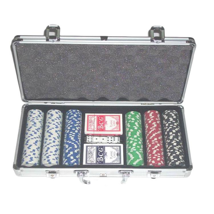 Premium silver 300pcs poker chip set