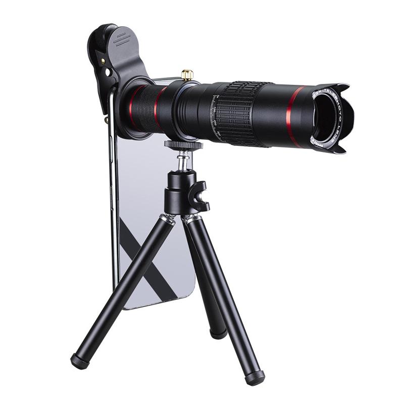 도매 유니버설 22X 휴대 전화 망원경 망원 카메라 렌즈 마운트 HD 렌즈