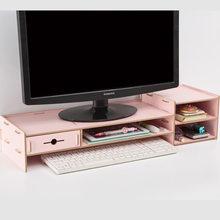 Многофункциональная настольная подставка для монитора, компьютерный экран, деревянная полка, крепкая подставка для ноутбука, настольный д...(Китай)