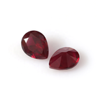Gemstone Hot Sale 7*9mm Ruby 8# Pear Cut Synthetic Ruby Color Of Ruby Stone Corundum Stone Loose Gemstone